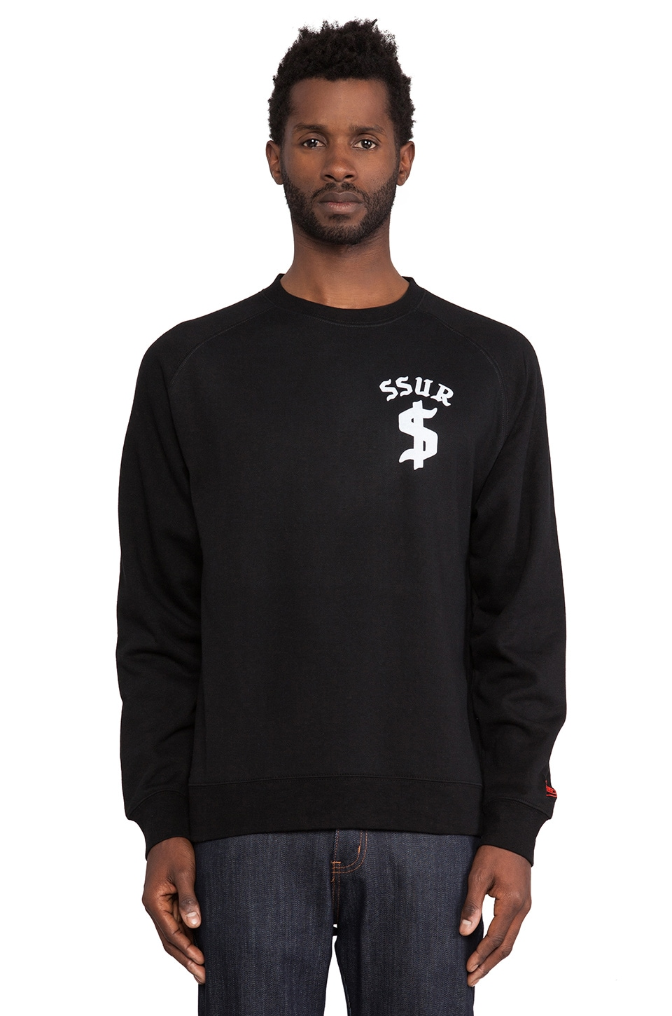 SSUR Down By Law Crewneck in Black
