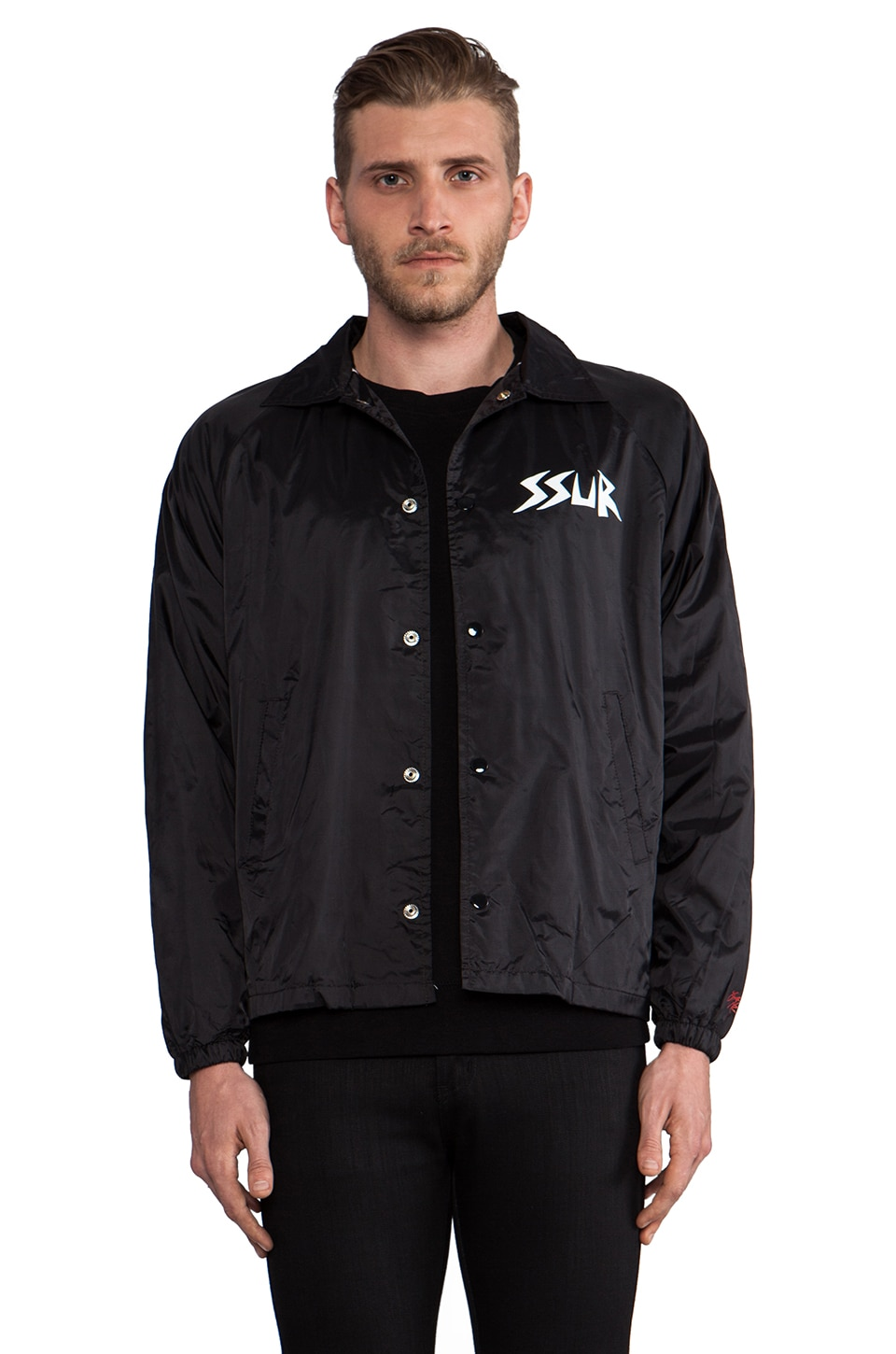 SSUR Tendencies Coach Jacket in Black