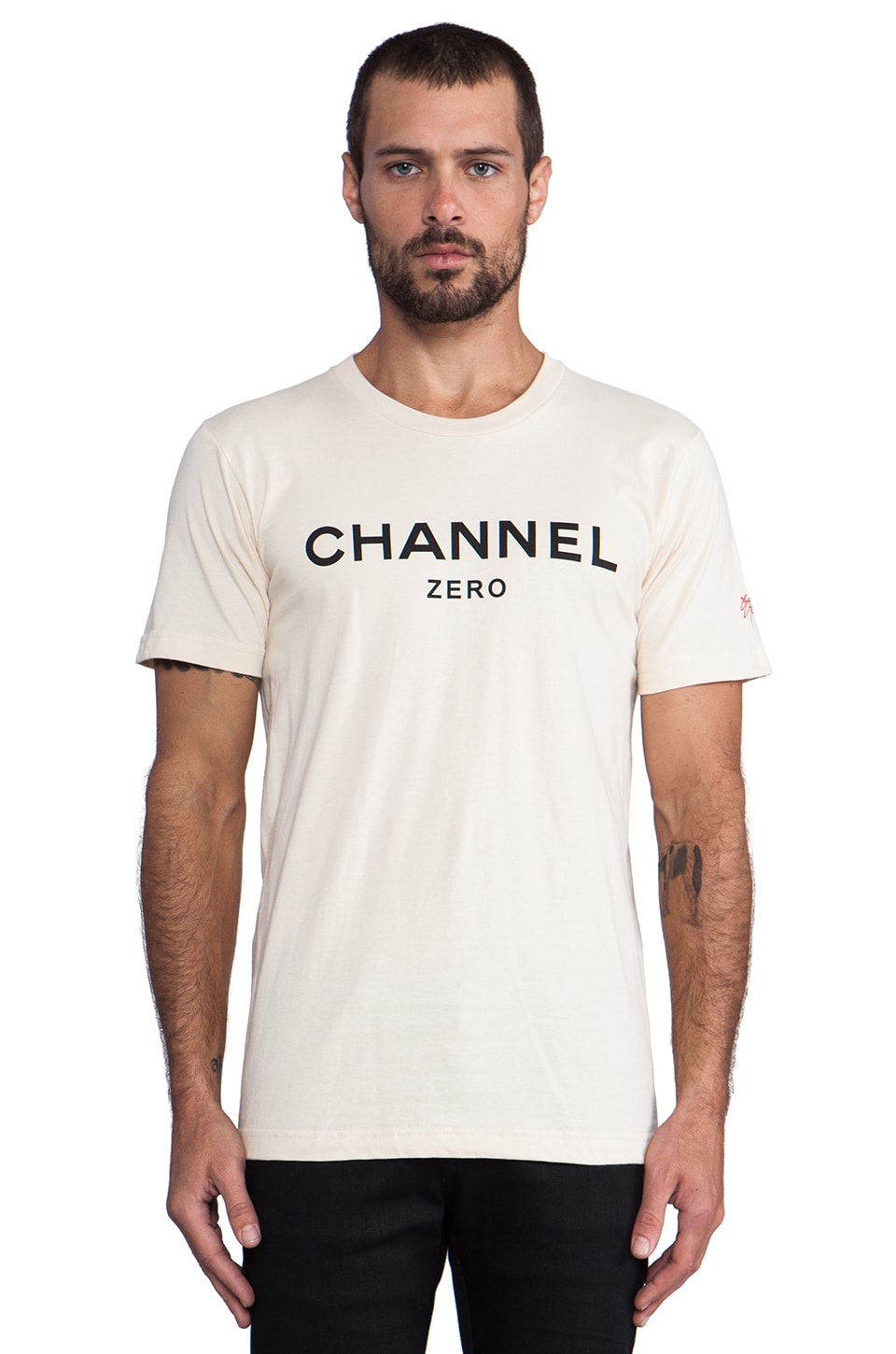 SSUR Channel Zero Tee in Black/Cream