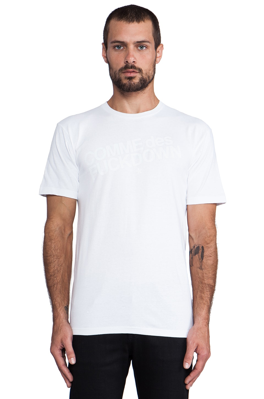 SSUR Comme Des Fuckdown in White/White