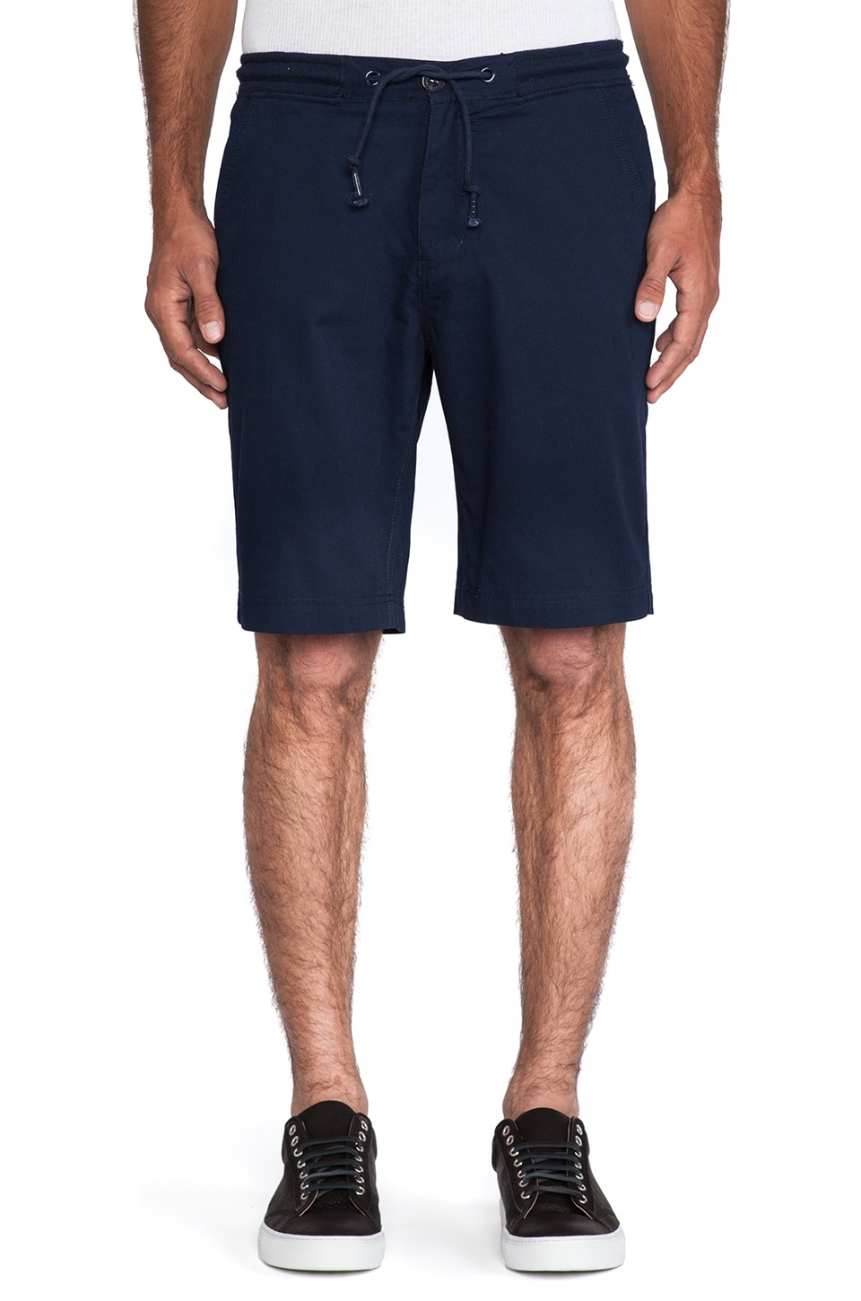 Staple Dobby Basic Short in Navy