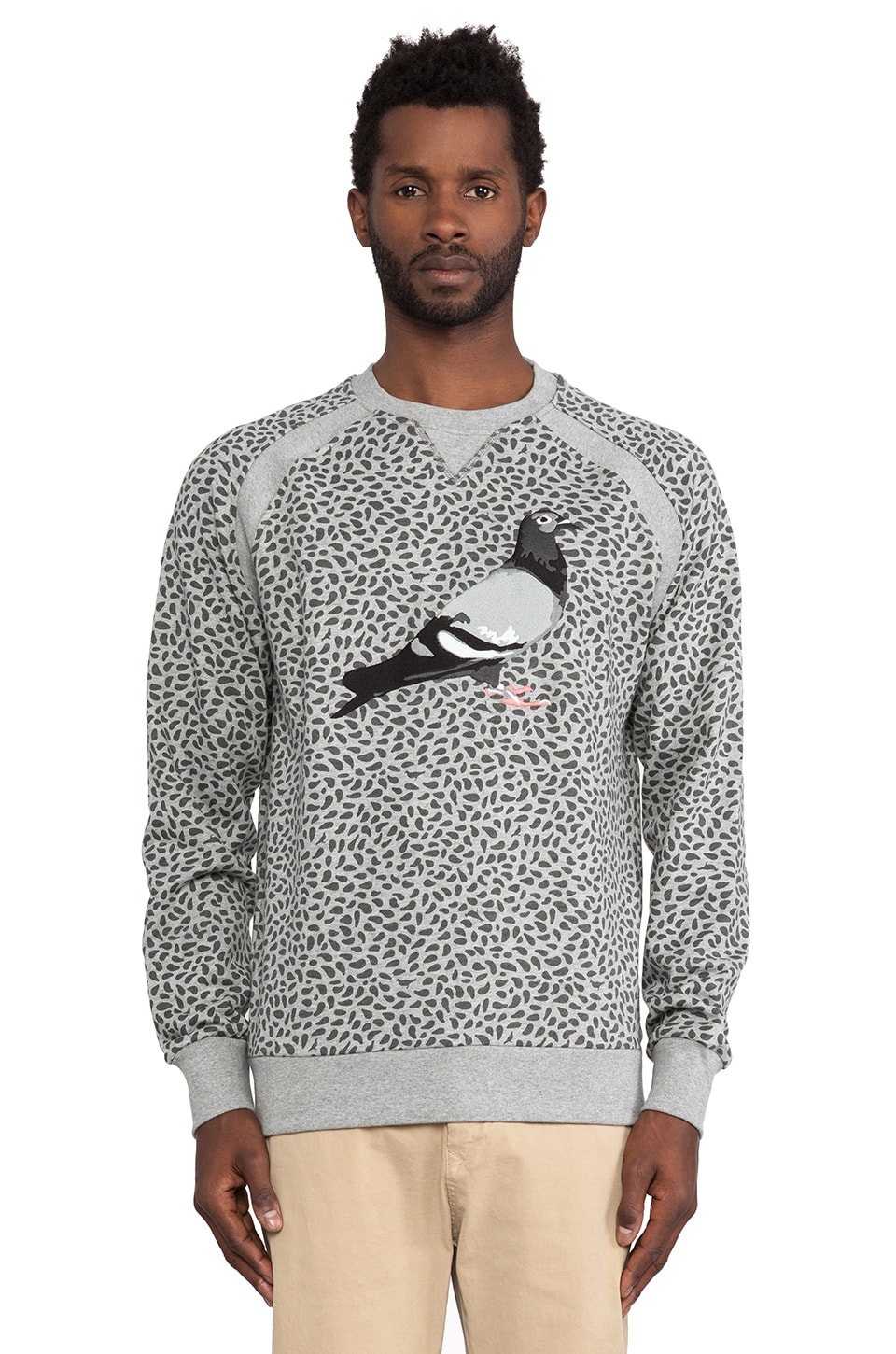 Staple Seed Pigeon Crewneck in Heather Grey