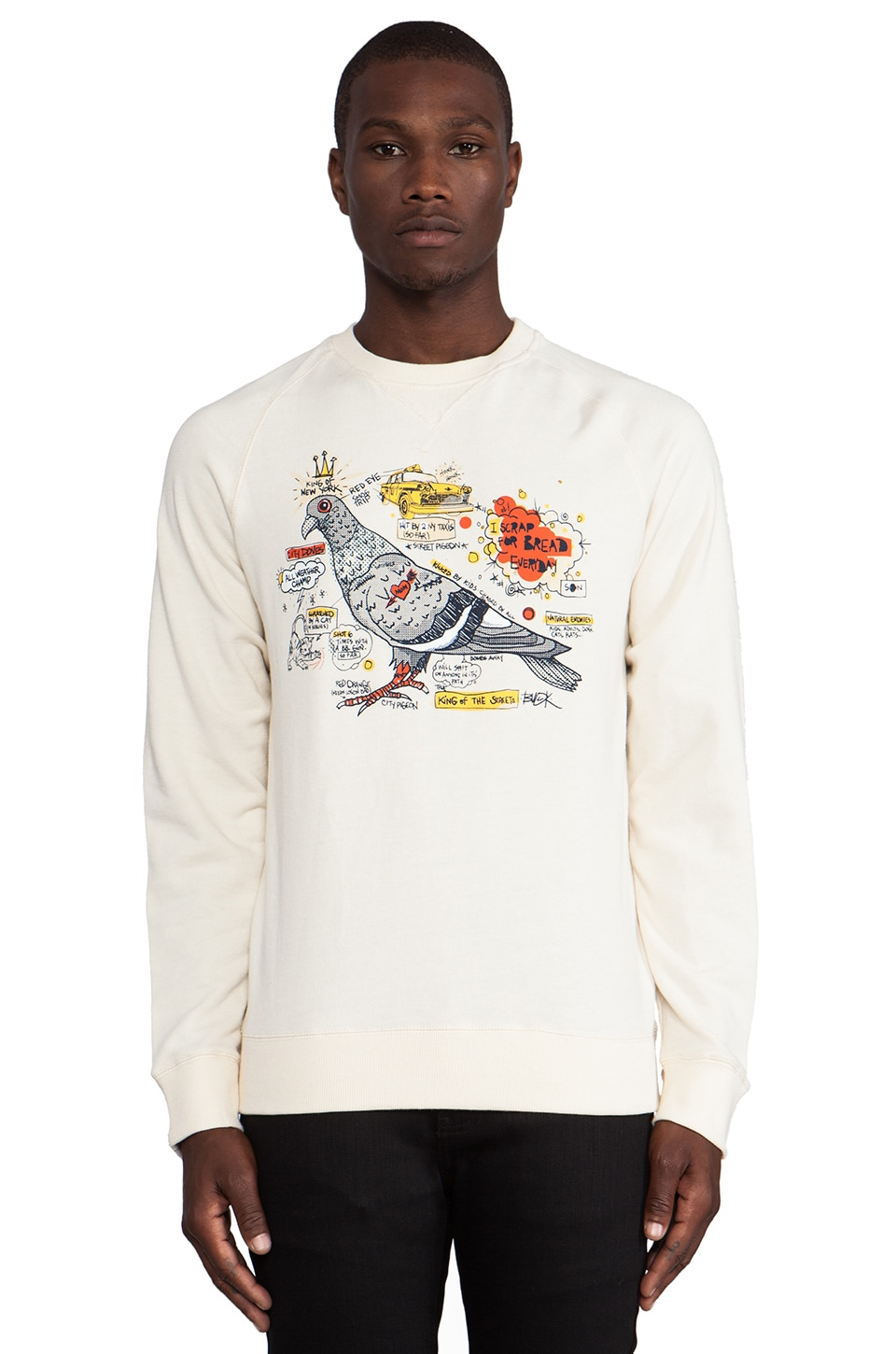 Staple City Doves Sweatshirt in Cream