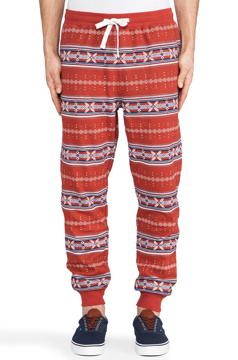Staple Pryce Fleece Pant in Red
