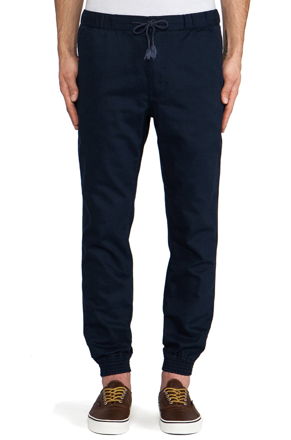 Staple Vito Cuff Pant in Navy