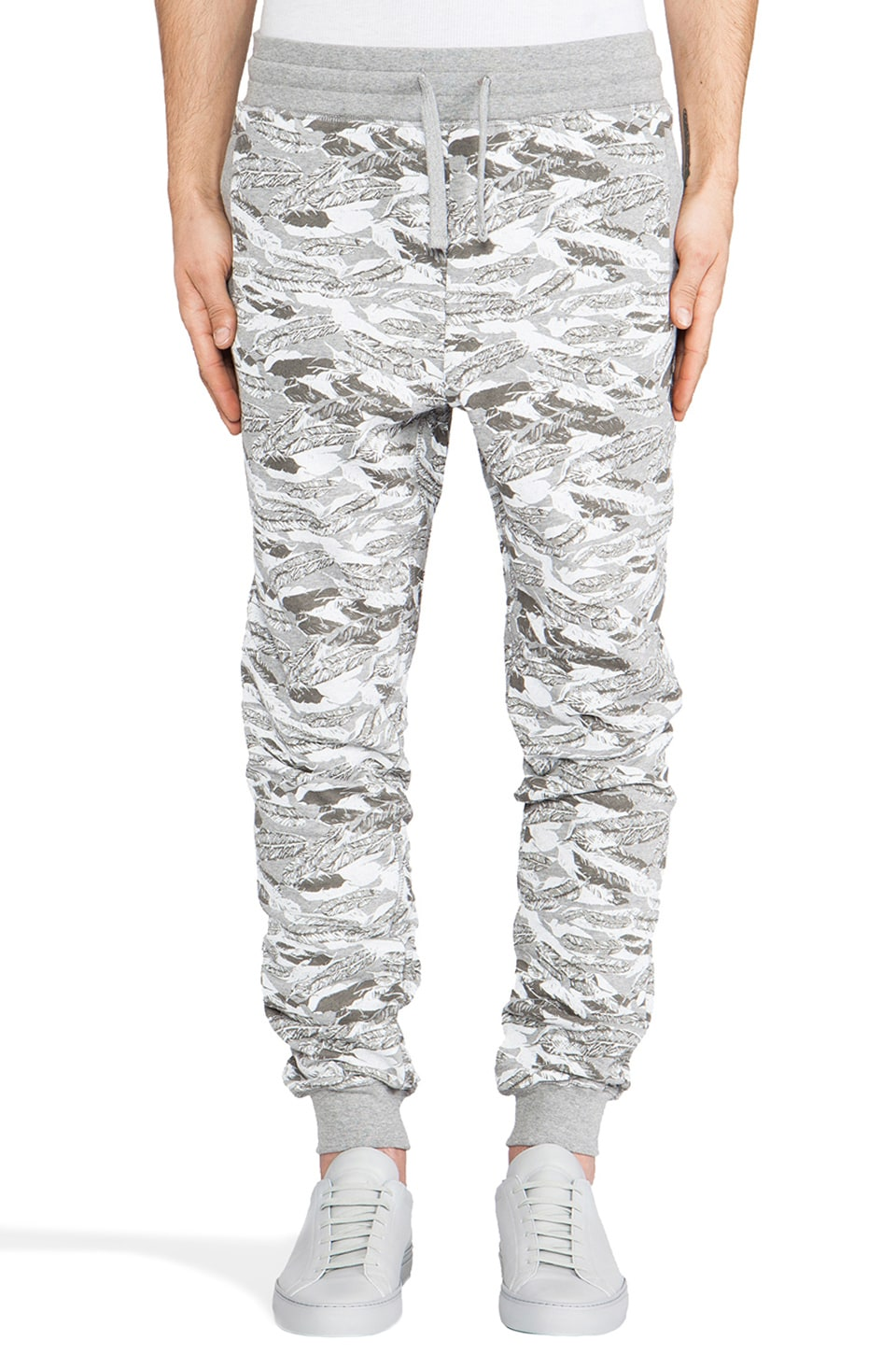 Staple Feather Camo Sweat Pant in Heather Grey