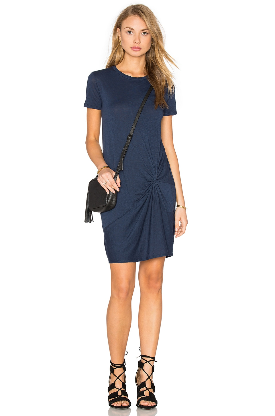 Knotted Mini Dress in Navy Stateside Sale Brand New Unisex A1y7pkEuo