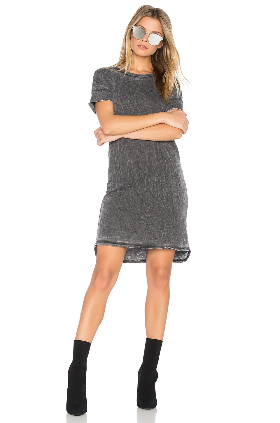Burnout French Terry T Shirt Dress by Stateside