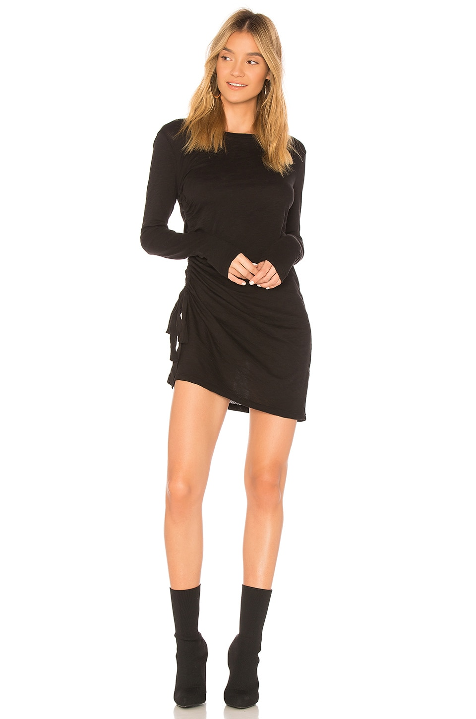 Supima Slub Jersey Ruched Dress by Stateside