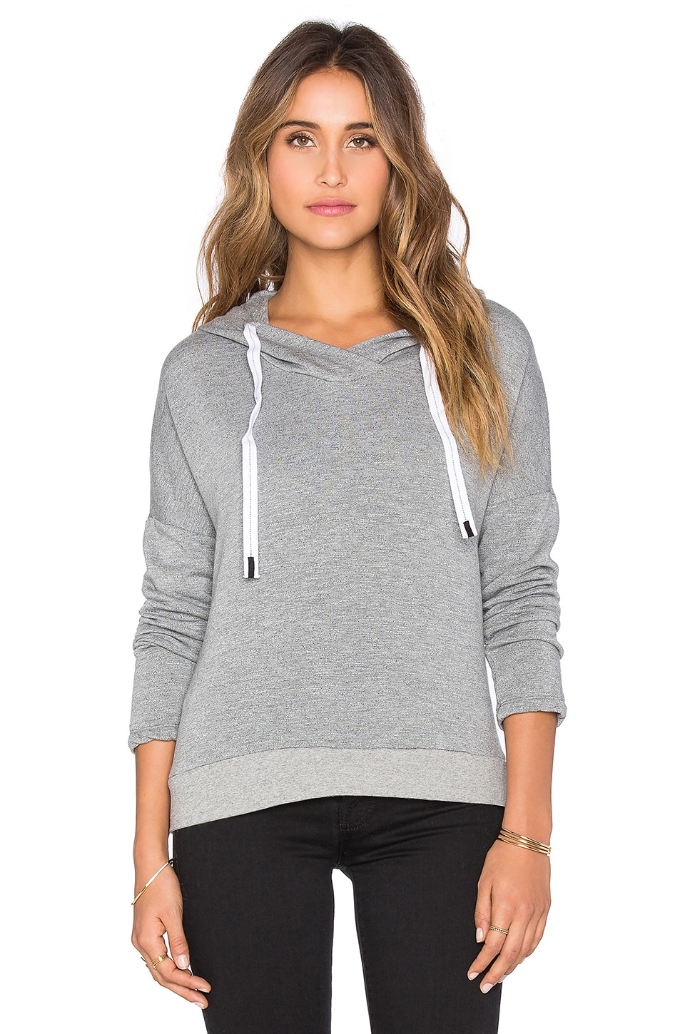 Stateside Fleece Pullover Hoodie in Heather Grey