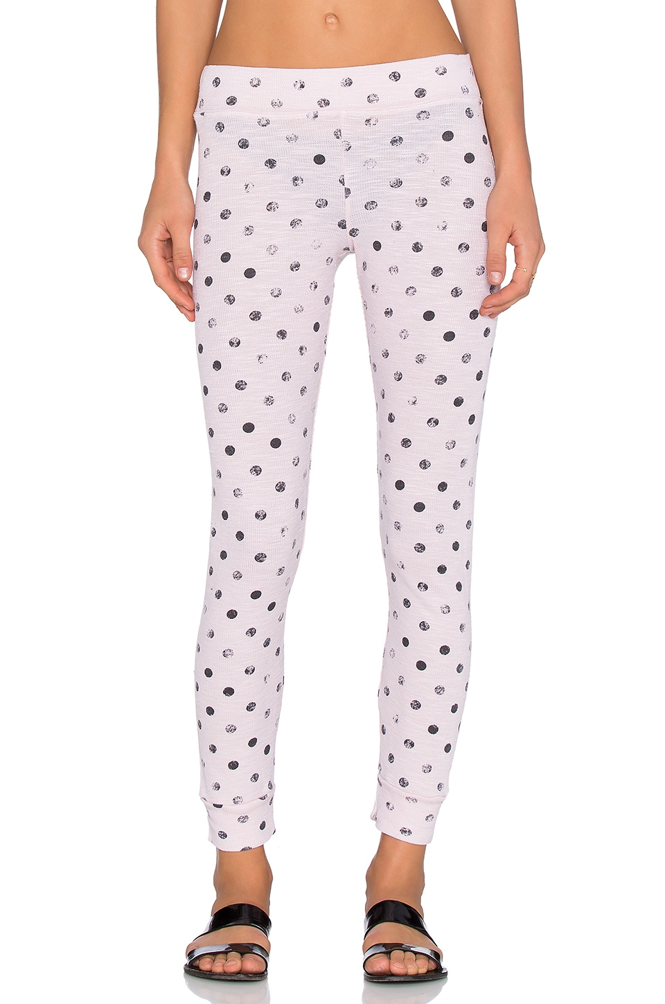 Stateside Polka Dot Thermal Legging in Blush