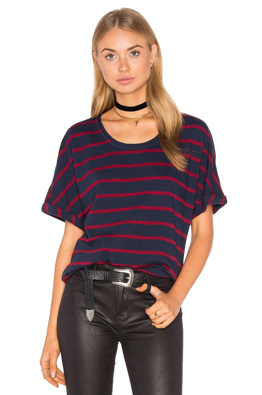 Stateside Wine Stripe T-Shirt in Navy