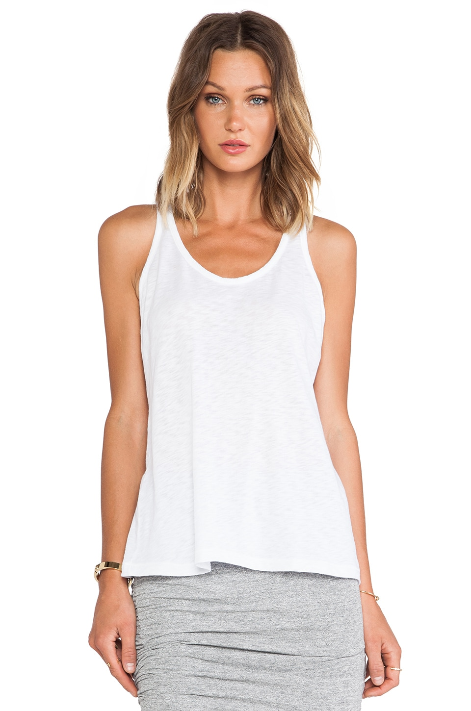 Stateside Racerback Tank in White