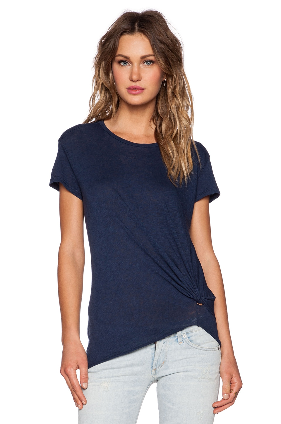 Stateside Gathered Tee in Navy
