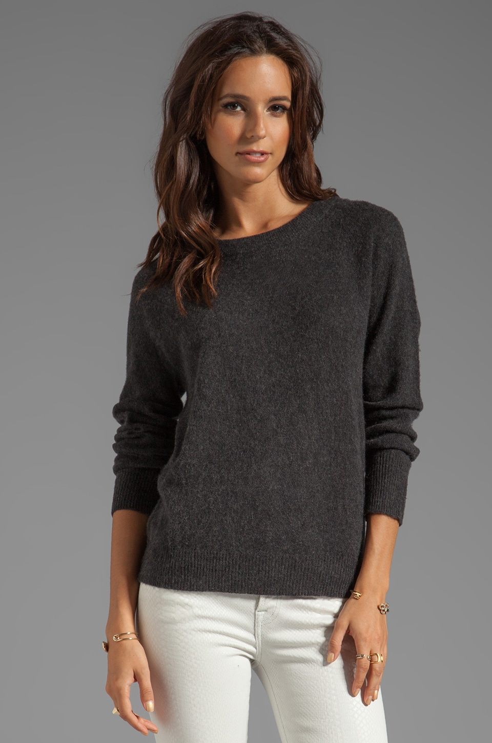 Skaist Taylor Cashmere Sweatshirt in Dark Charcoal