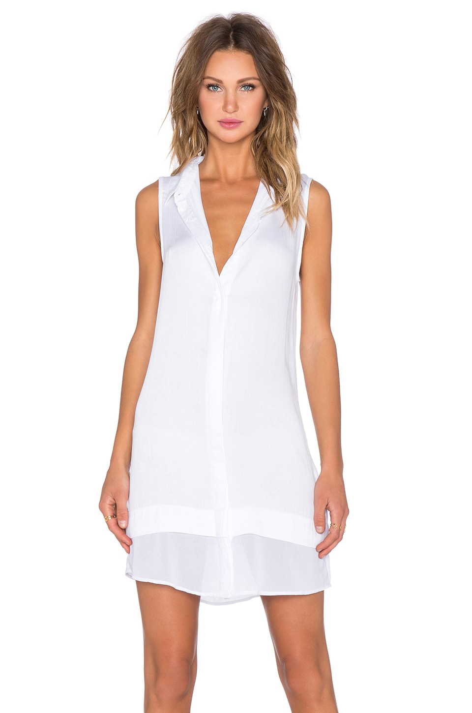 State of Being Ash Shirtdress in White