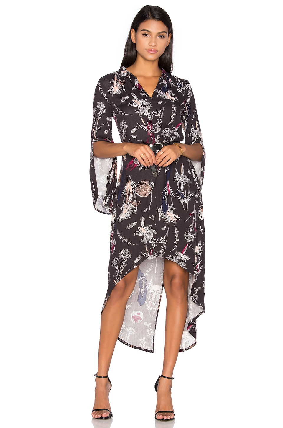 State of Being Brushwork Hi Low Dress in Multi