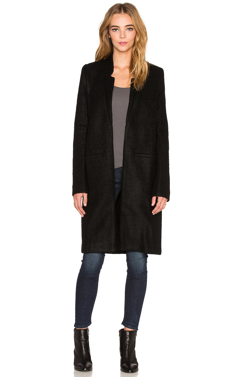 State of Being Tailored Coat in Black | REVOLVE