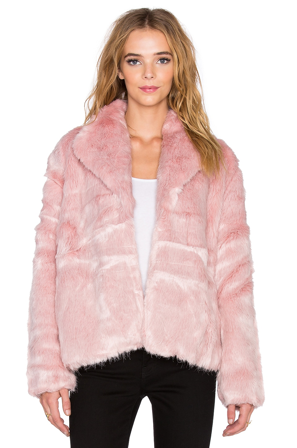 State of Being Powderpuff Faux Fur Coat in Pink | REVOLVE