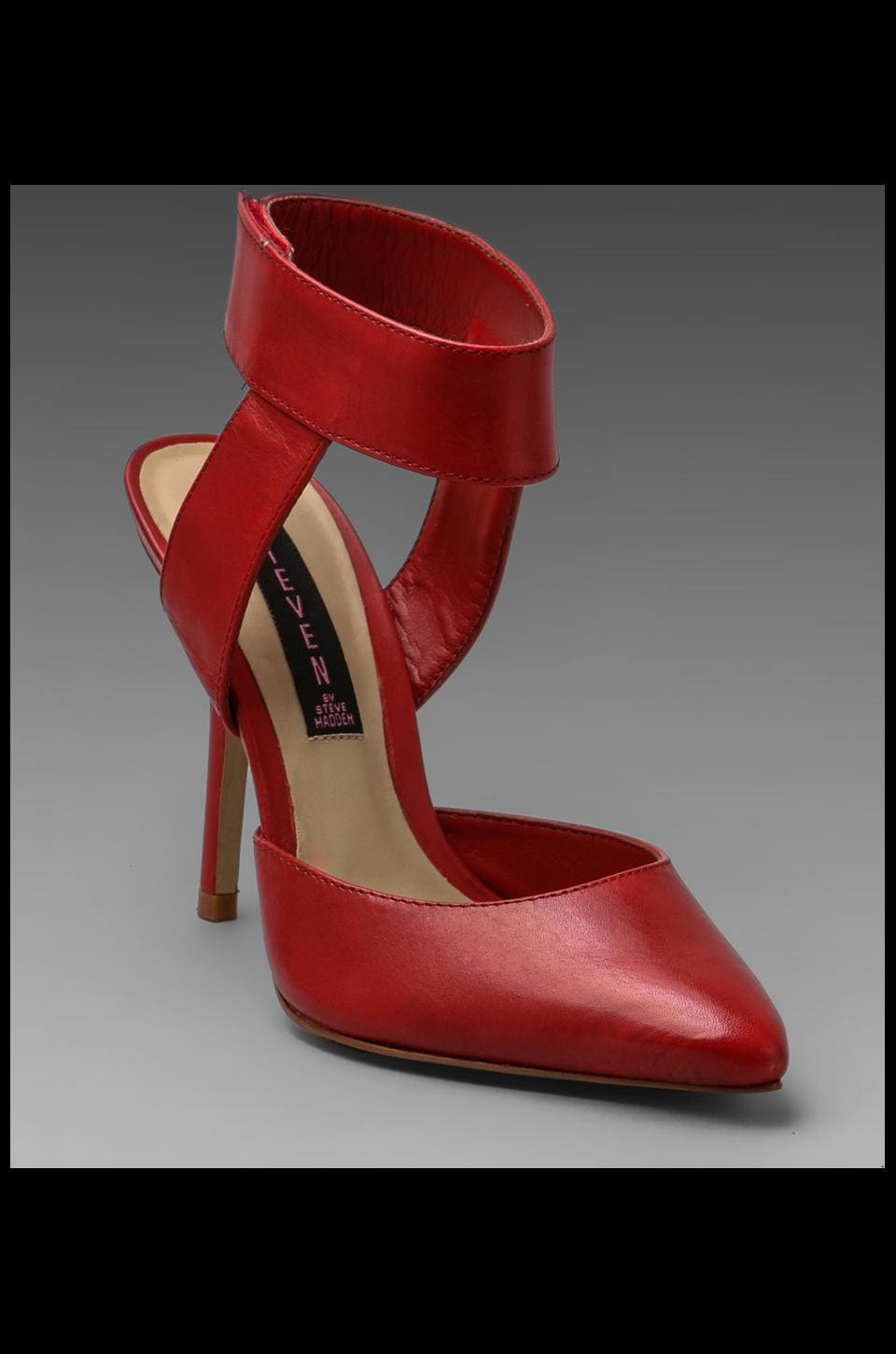 Steven Revolvir Heel in Red Leather
