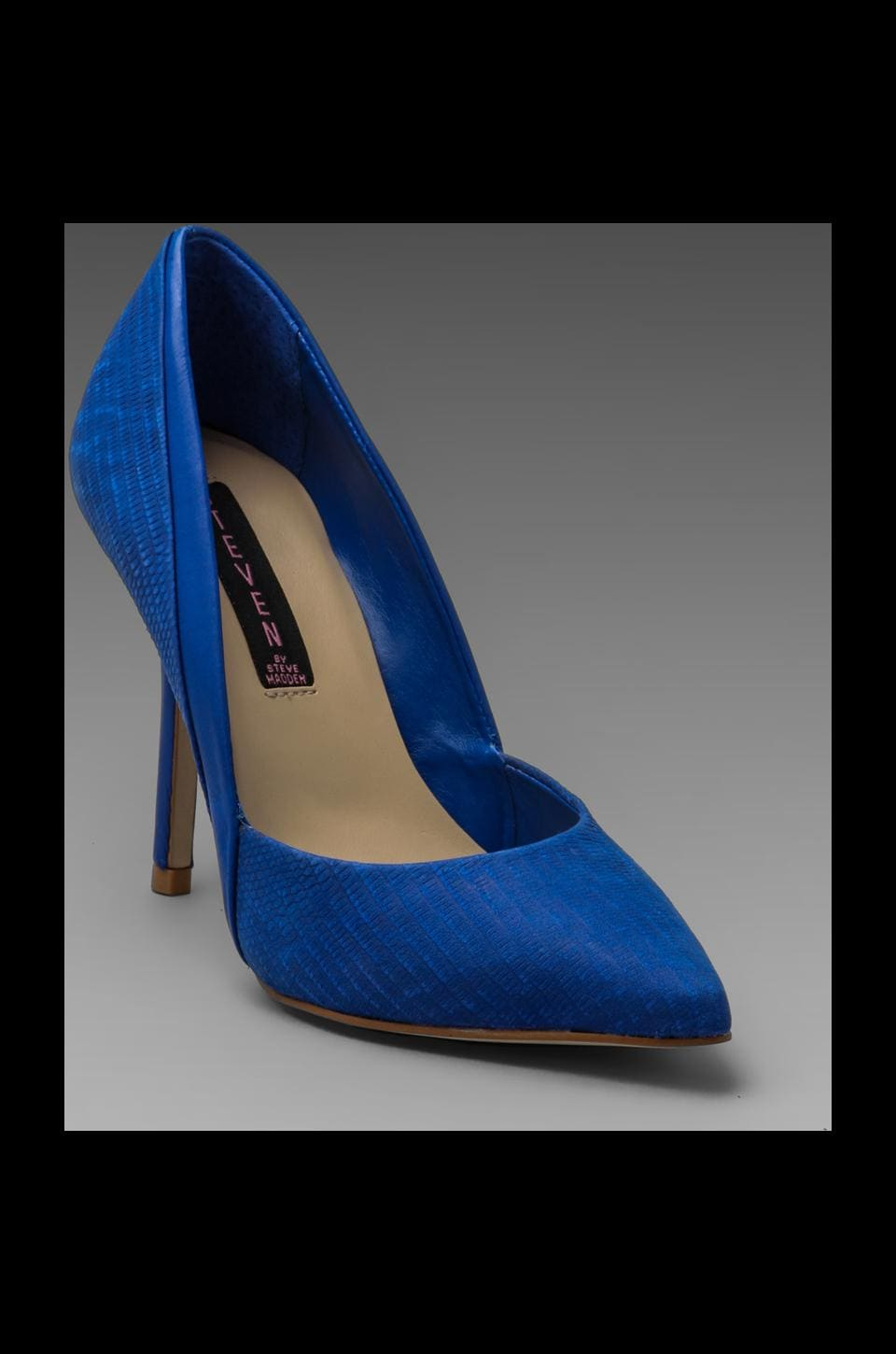 Steven Akcess Pump in Blue Nubuck