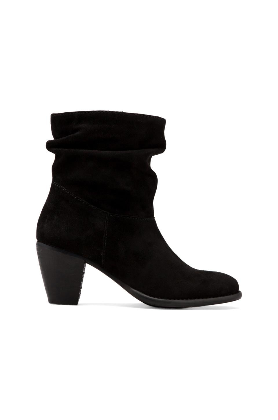 Steven Welded Bootie in Black Suede