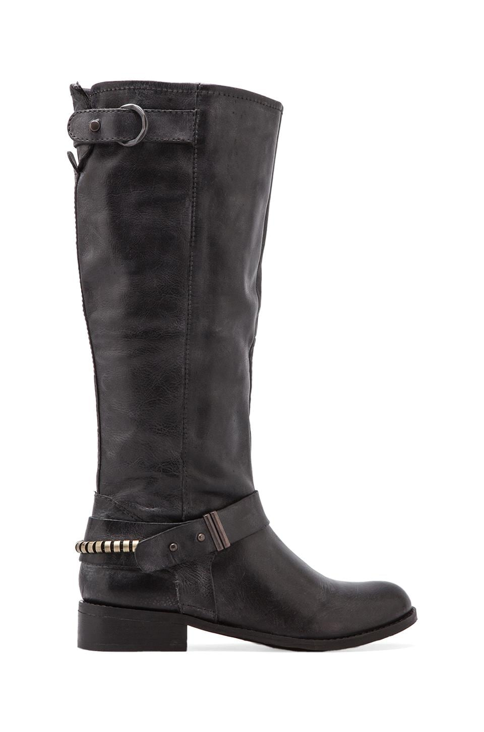 Steven Ryley Boot in Black Distressed Leather