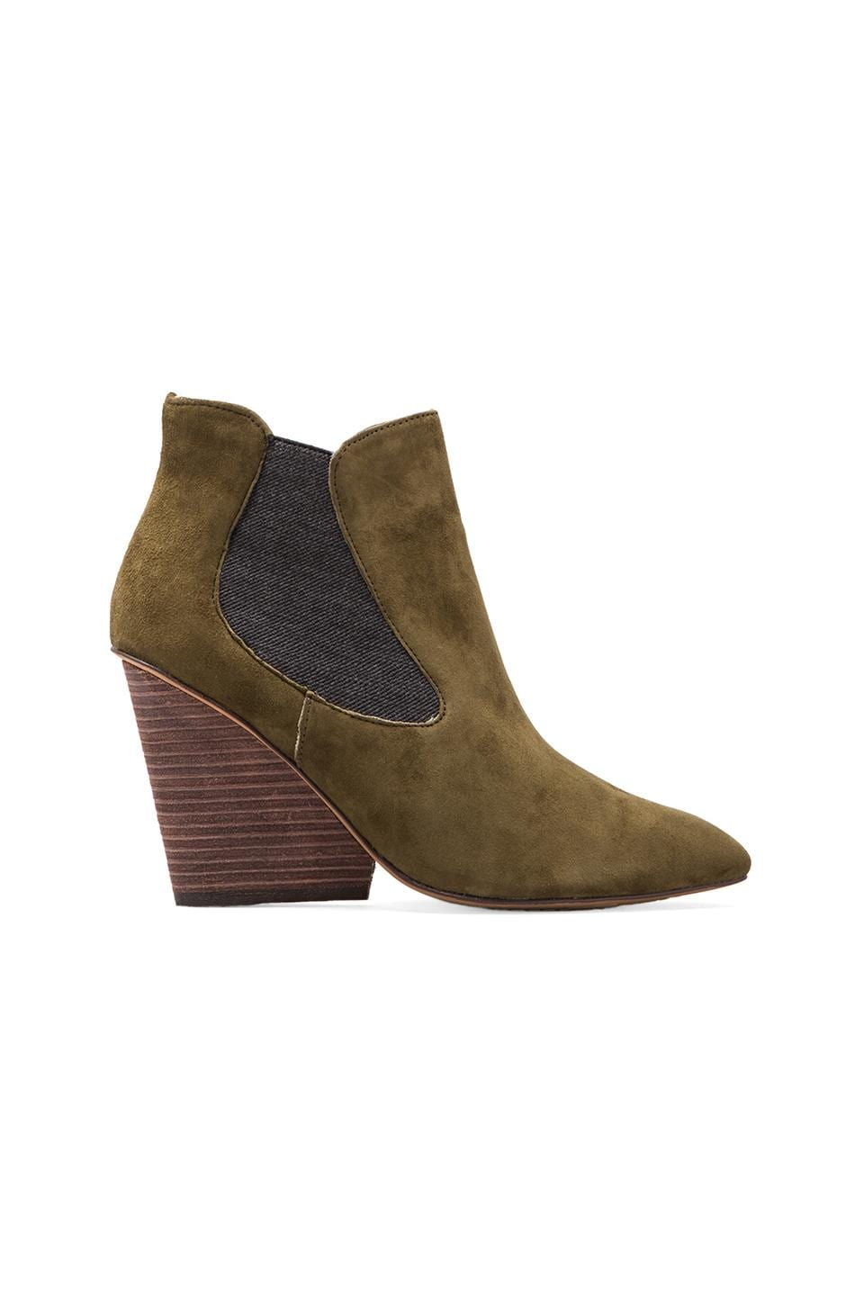Steven Maliik Bootie is Green Suede