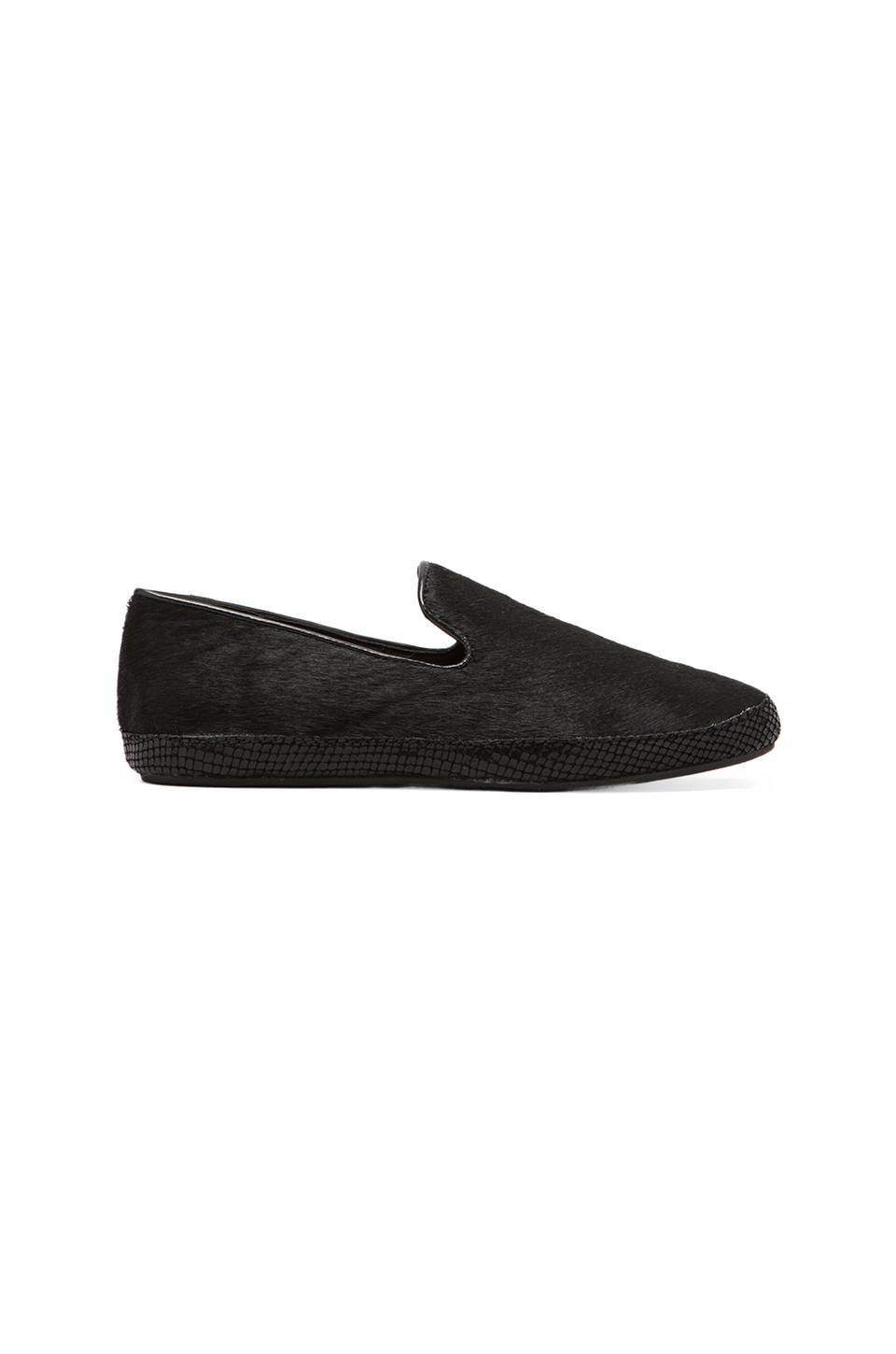 Steven Clutch Loafer with Calf Hair  in Black Pony