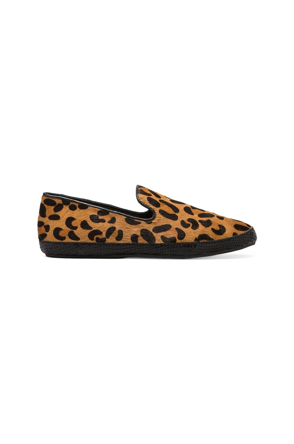 Steven Clutch Loafer with Calf Hair in Leopard Pony