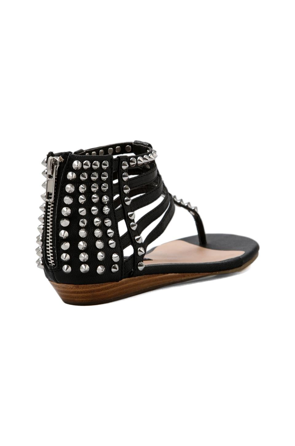 Steven Indyana Sandal in Black Leather