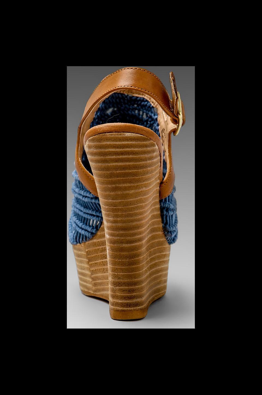Steven Jacks Wedge Sandal in Blue