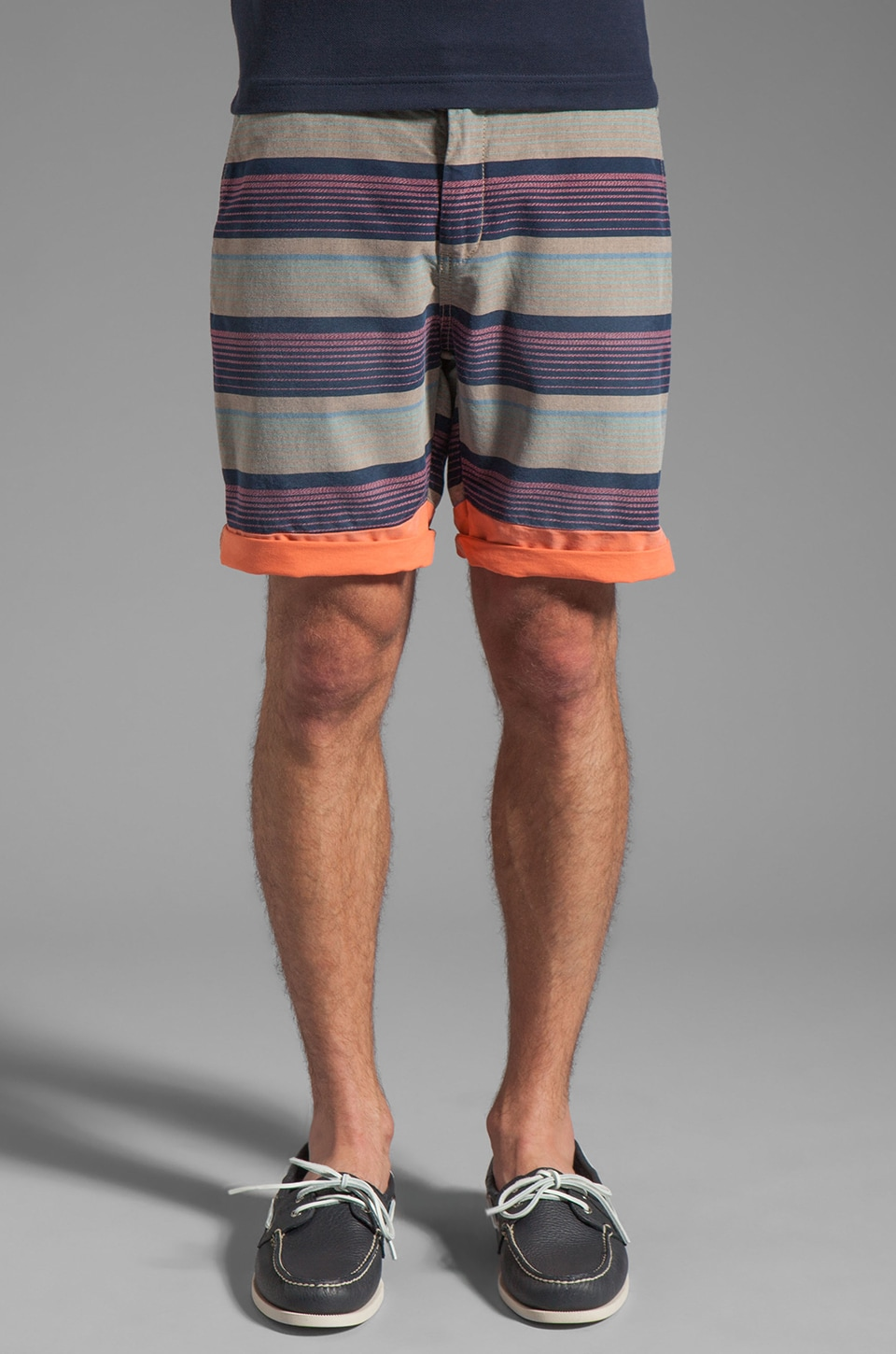 Scotch & Soda Patterned Stripe Short in Blue/Pink