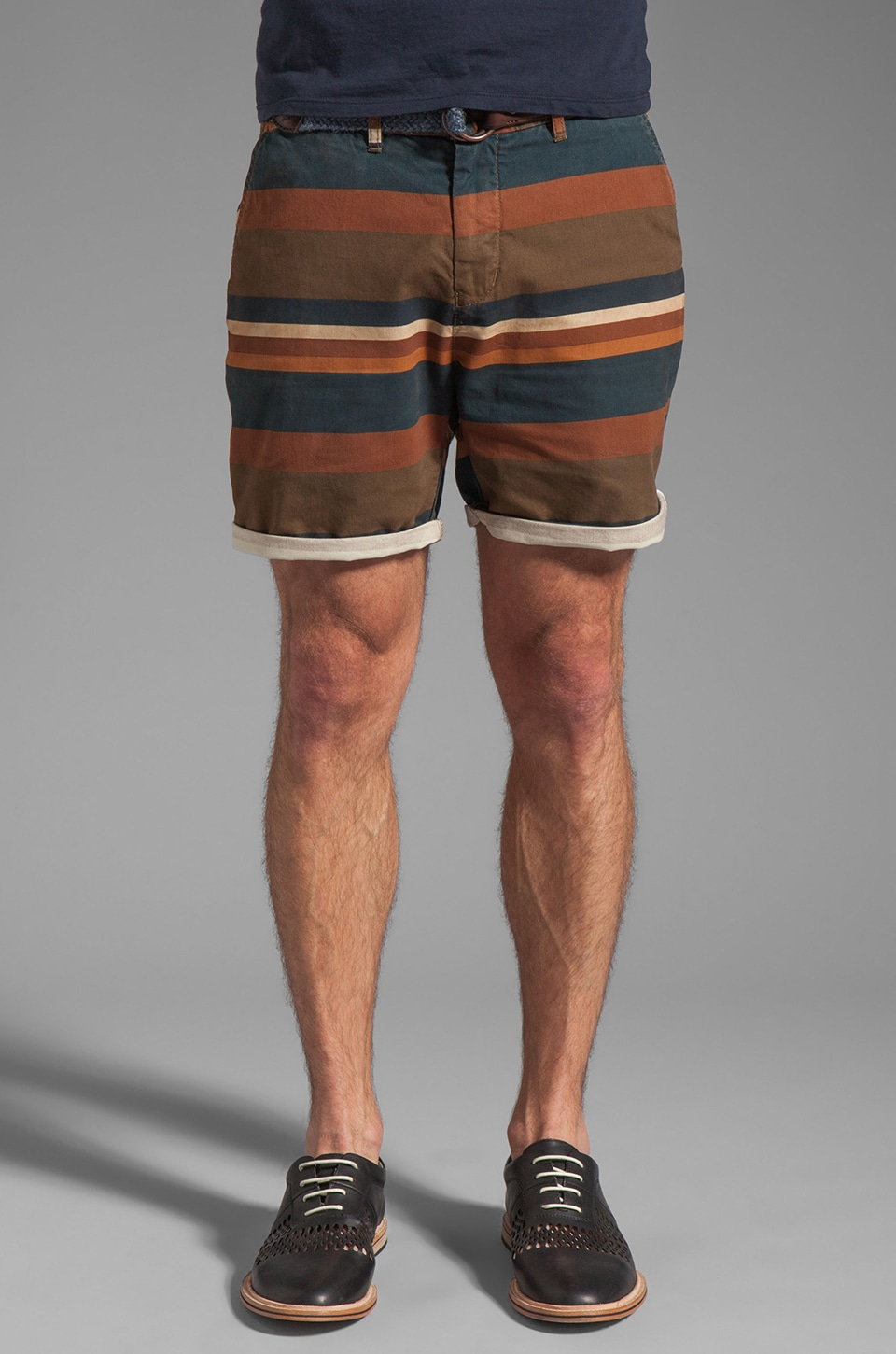 Scotch & Soda Patterned Stripe Short in Brown