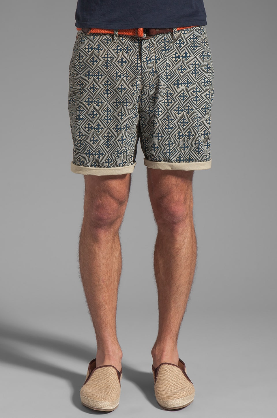 Scotch & Soda Printed Short en Bleu