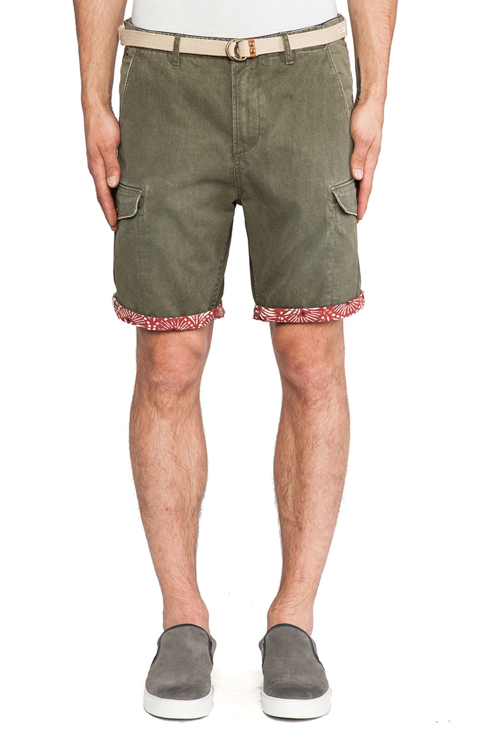 Scotch & Soda Cargo Short in Olive Green