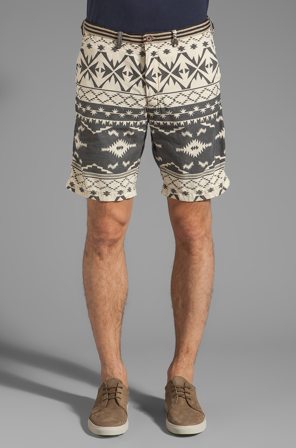 Scotch & Soda Aztec Print Short in Black/White