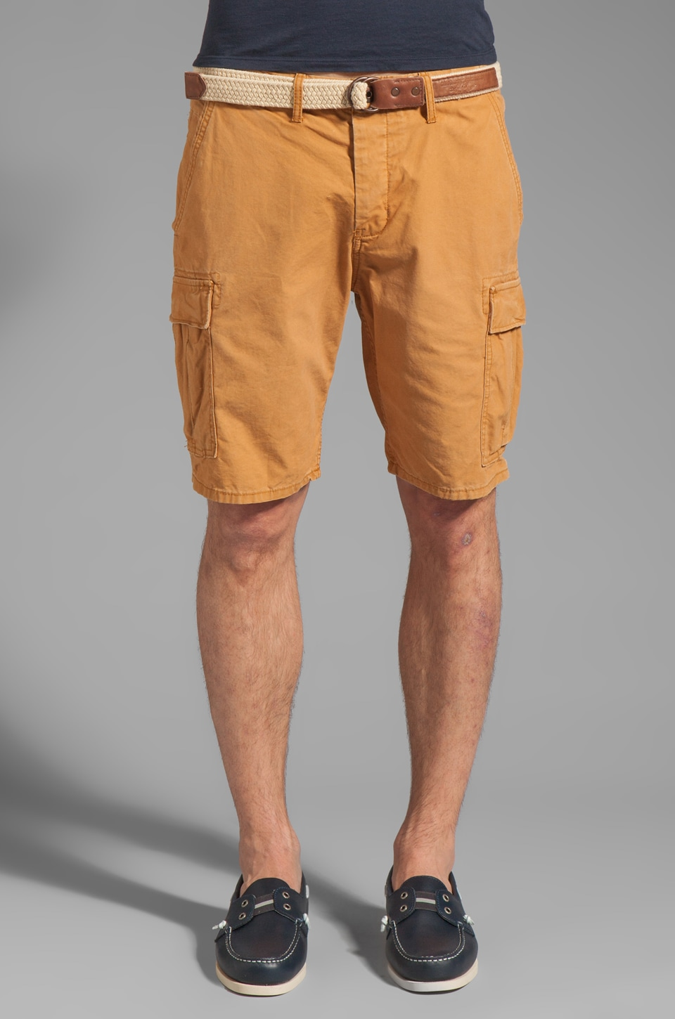 Scotch & Soda Belted Cargo Short in Ginger