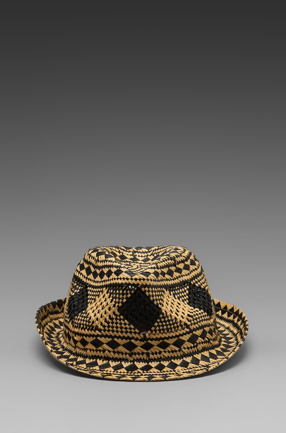 Scotch & Soda Straw hat in Black/Beige