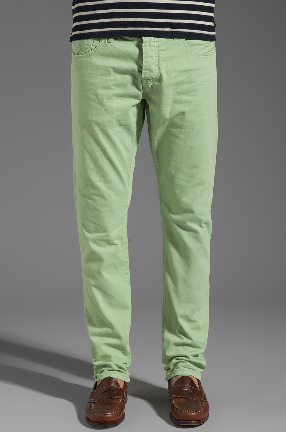 Scotch & Soda Ralston Slim Garment Dye en Mint