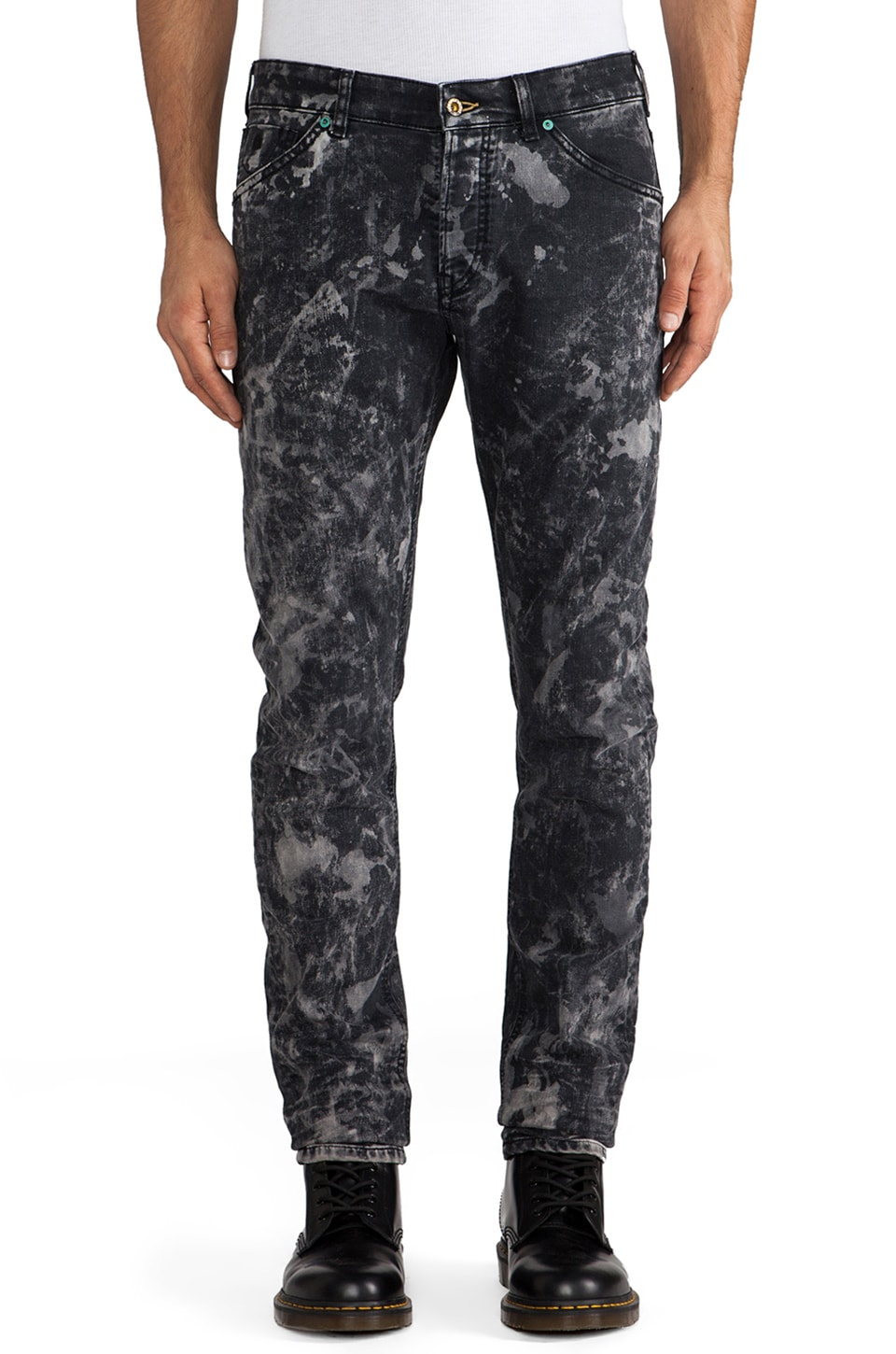 Scotch & Soda Gitane Super Slim Taper Jean in Black/Bleach