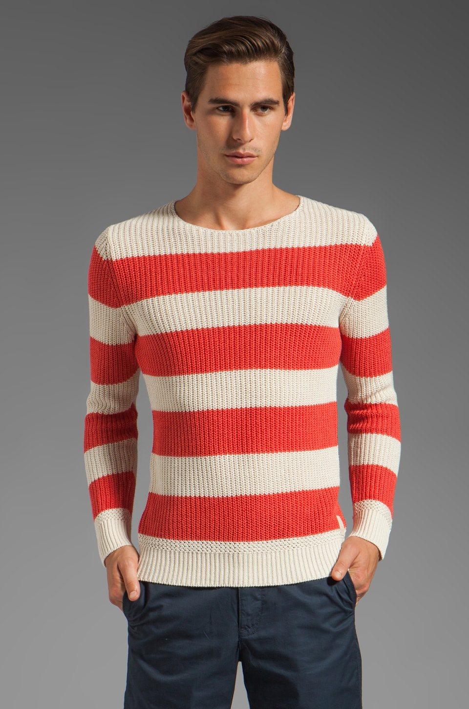 Scotch & Soda Scotch & Stripe Knit Sweater in Orange