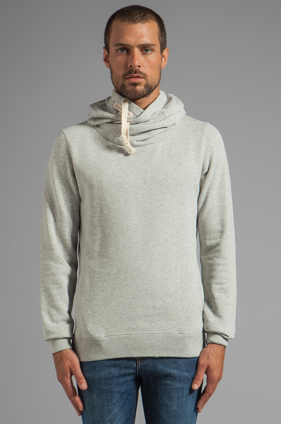 Scotch & Soda Home Alone Twisted Neck Hoodie in Ecru