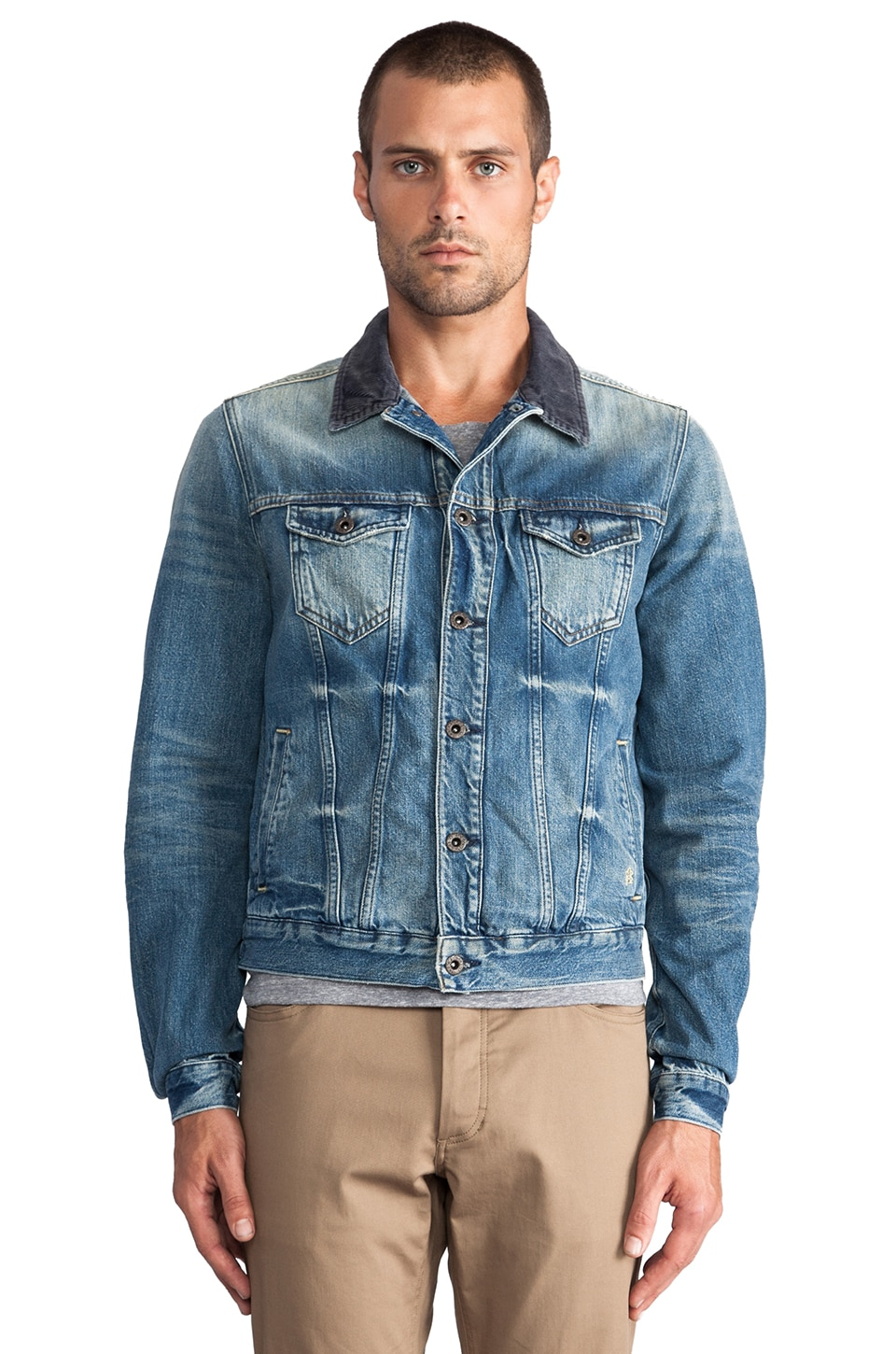 Scotch & Soda Trucker Denim Jacket en Bleu Ciel