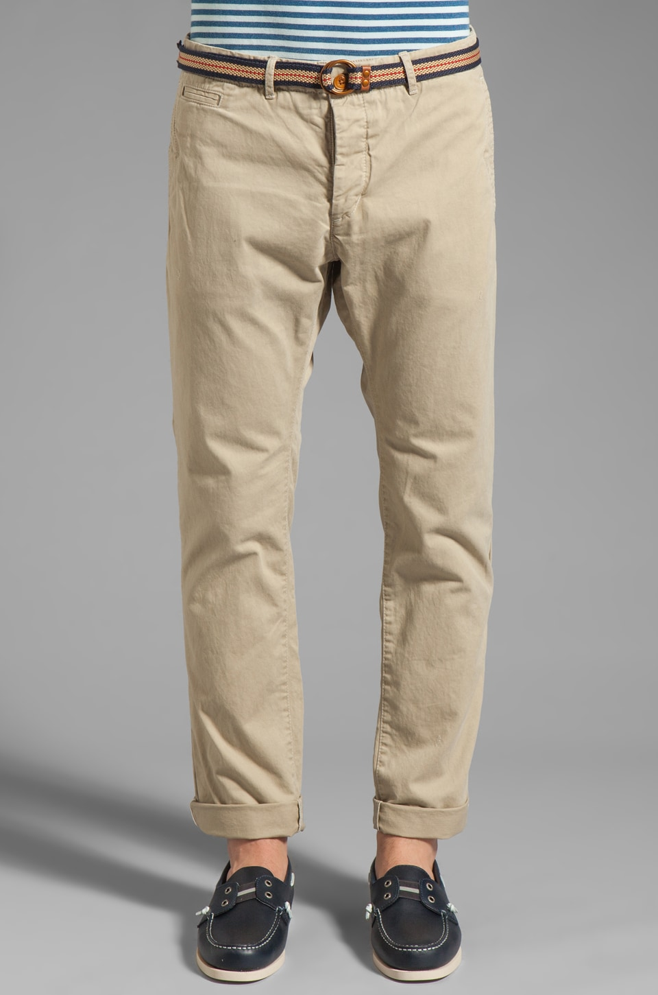 Scotch & Soda Belted Chino Pant in Sand