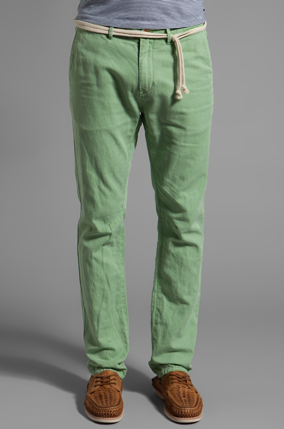 Scotch & Soda Belted Beach Chino Pant in Mint