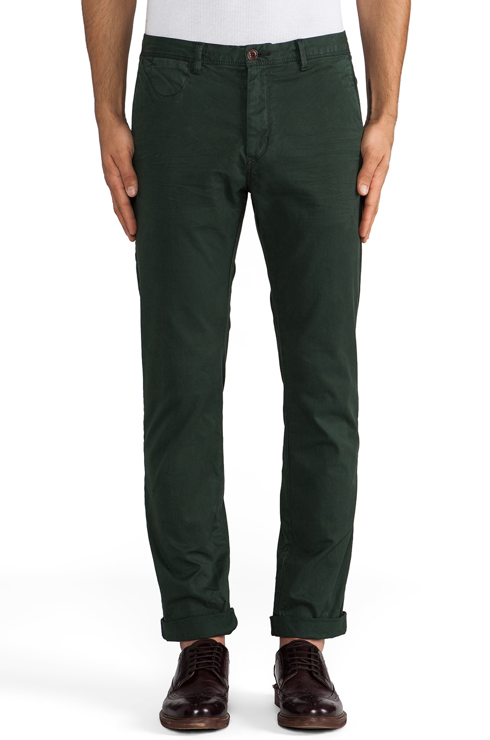 Scotch & Soda Slim Fit Chino in Olive