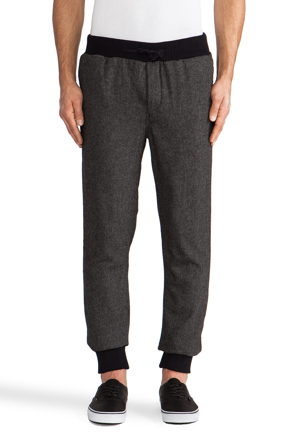 Scotch & Soda Wooly Pant w/ Drawcord in Grey/Navy