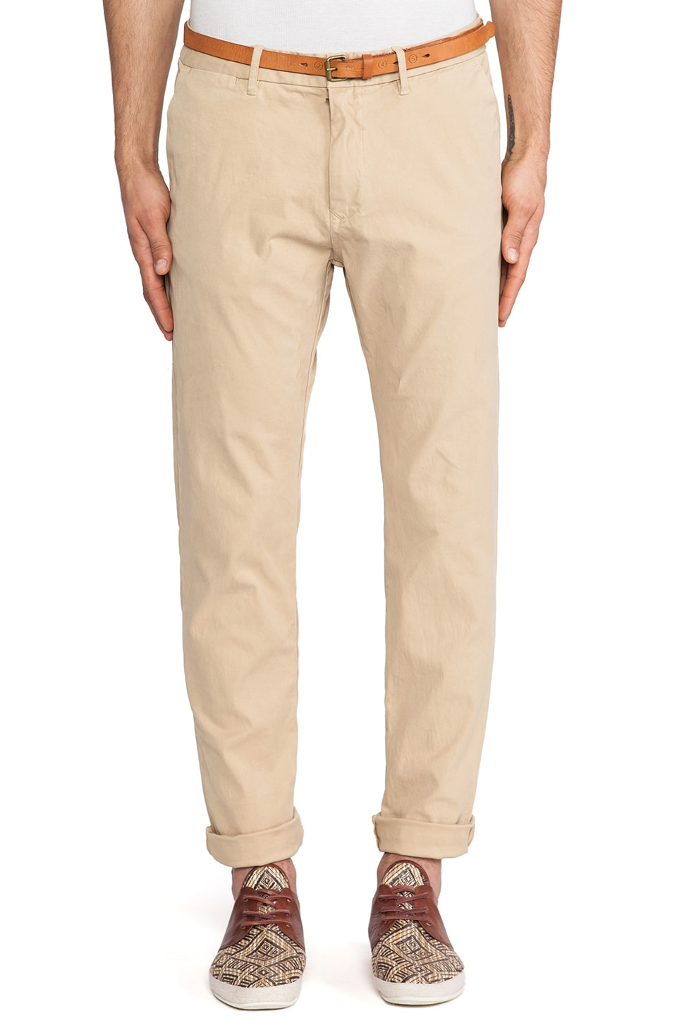 Scotch & Soda Basic Belted Slim Fit Chino in Kit