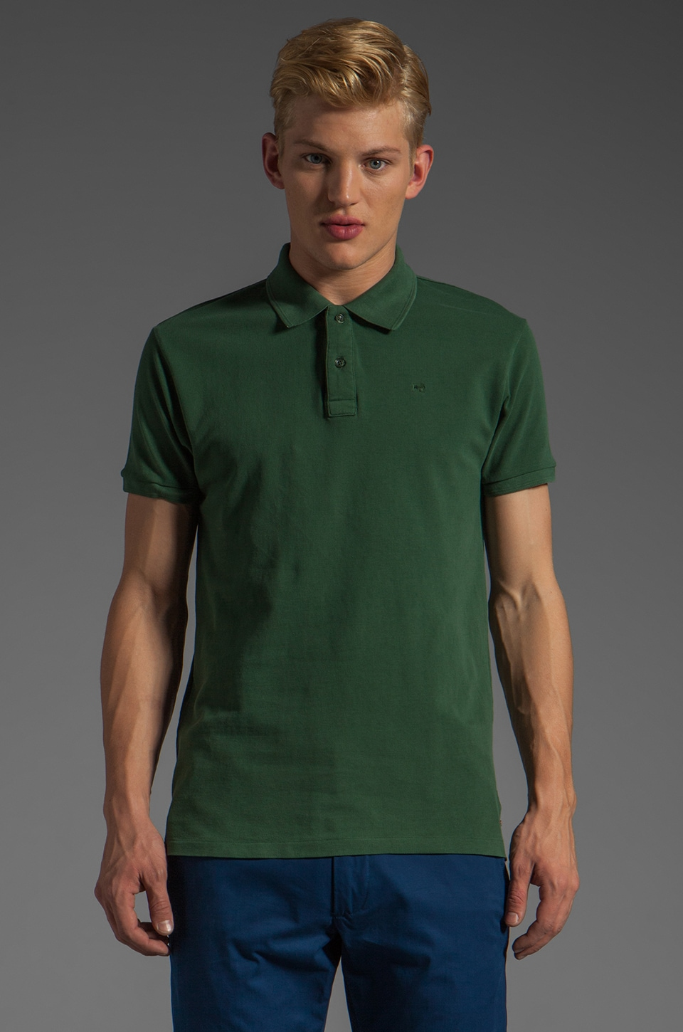 Scotch & Soda Pique Polo in Teal